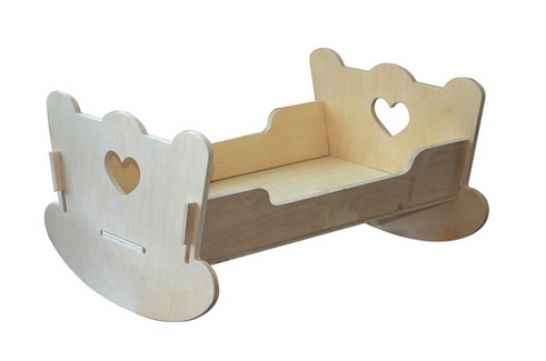 Кроватка для кукол из фанеры своими руками