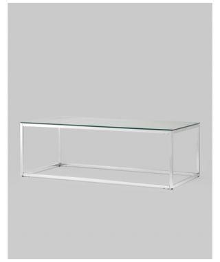 Журнальный стол 120*60 ТАУН серебро