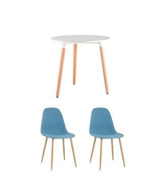 Обеденная группа стол DST 2 стула Валенсия голубой