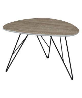 Журнальный стол Wood 84 60*40 дуб серо-коричневый винтажный