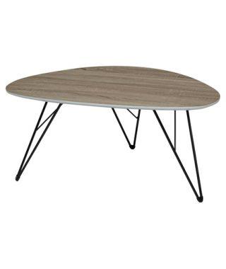 Журнальный стол Wood 85 90*60 дуб серо-коричневый винтажный