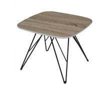 Журнальный стол Wood 82 50*50 дуб серо-коричневый винтажный