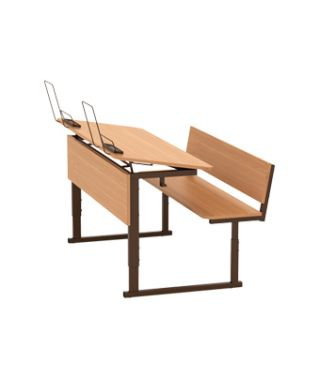 Парта ученическая 2-местная регулируемая по высоте и наклону столешницы 0-10° 2-4 гр.