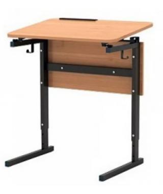 Стол 1-м. регулир. высота и наклон столешницы 0 или 10° 3-5гр., 4-6 гр., 5-7 гр.