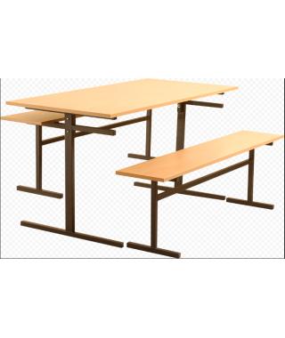 Стол для столовой 4-х местный для скамеек 5 или 6 гр (пластик)