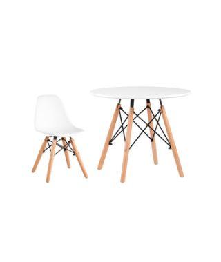 Комплект детский стол DSW, 1 белый стул