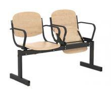 Кресло 2-местное, откидывающиеся сиденья, с подлокотниками
