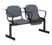 Кресло 2-местное, мягкое, откидное, с подлокотниками, лекционное