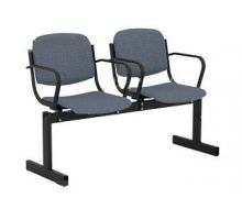 Кресло 2-местное, не откидывающиеся сиденья, мягкий, с подлокотниками