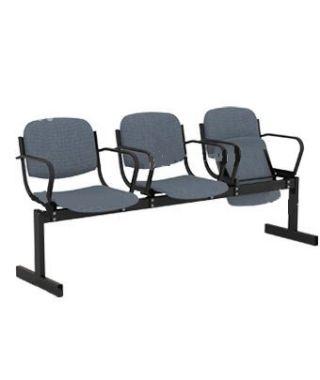 Кресло 3-местное, откидывающиеся сиденья, мягкое, с подлокотниками