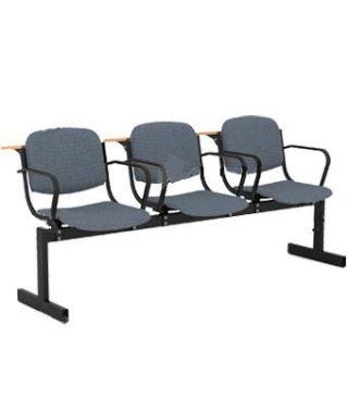Кресло 3-местное, не откидывающиеся сиденья, мягкий, с подлокотниками, лекцион.