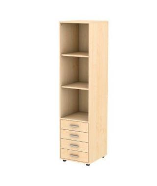 Шкаф-пенал вертикальный с 4 ящиками
