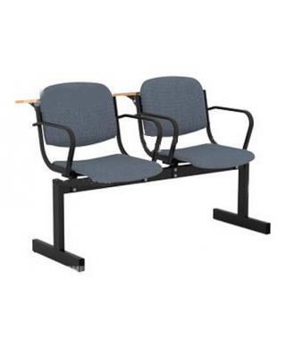 Кресло 2-местное, не откидывающиеся сиденья, мягкий, с подлокотниками, лекционный